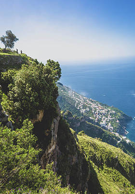View Of Amalfi Italy From Path Of The Gods Poster