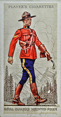 1940s Royal Canadian Mountain Police Print