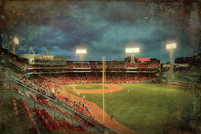 Poster featuring the photograph Vintage Fenway Park - Boston Red Sox by Joann Vitali