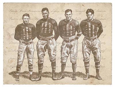 Vintage Football Heroes Poster