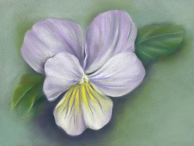 Poster featuring the pastel Viola Purple And Yellow by MM Anderson