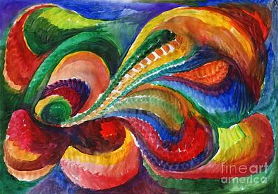 Vivid Abstract Watercolor Poster