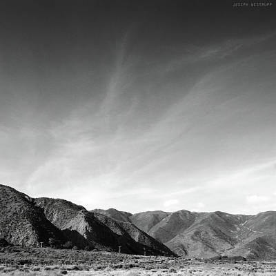 Wainui Hills Squared In Black And White Poster