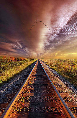 Poster featuring the photograph Walk The Line by Phil Koch