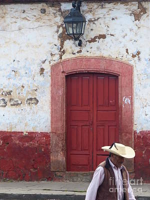 Poster featuring the photograph Walking By In Patzcuaro by Rosanne Licciardi
