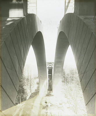 Walnut Lane Bridge Under Construction Poster