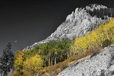 Poster featuring the photograph Waning Gibbous Moon Autumn Monarch Pass Bwsc by James BO Insogna