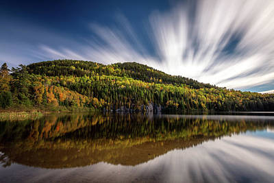 Poster featuring the photograph Wapizagonke Lake Reflection by Pierre Leclerc Photography
