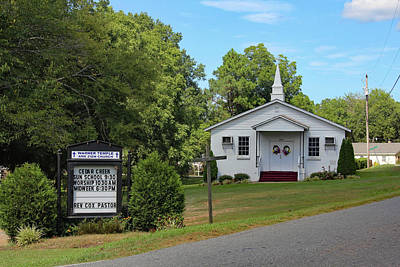 Poster featuring the photograph Warner Temple Ame Zion Church 10 by Joseph C Hinson Photography