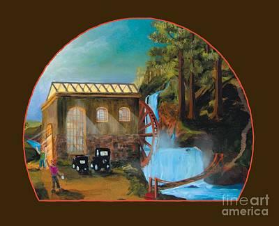 Water Wheel Overlay Poster