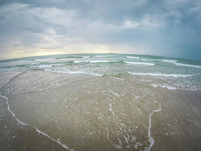 Poster featuring the photograph Waves Crashing On Wrightsville Beach Before The Storm by Alex Grichenko
