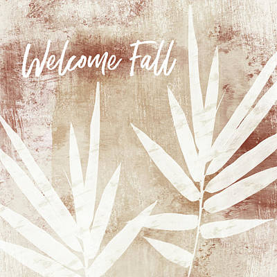 Welcome Fall Leaf- Art By Linda Woods Poster