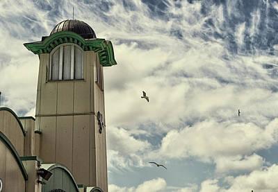 Poster featuring the photograph Wellington Pier Entertainment Centre Tower by Scott Lyons