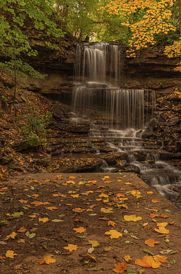 Poster featuring the photograph West Milton Falls In Autumn by Dan Sproul
