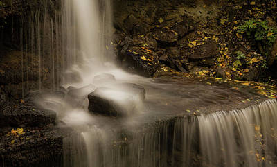 Poster featuring the photograph West Milton Waterfall Details by Dan Sproul