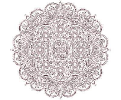Poster featuring the digital art Whimsical Burgundy Mandala by Georgeta Blanaru