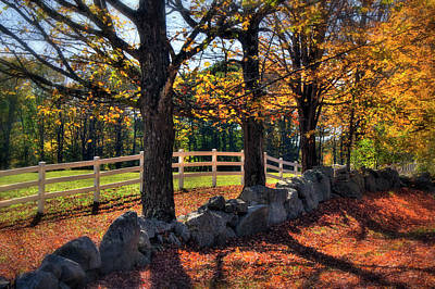 Poster featuring the photograph White Picket Fence Country Scene by Joann Vitali