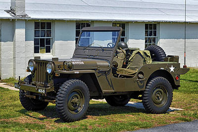 Poster featuring the photograph Willys Army Jeep 20899516 At Fort Miles by Bill Swartwout Fine Art Photography