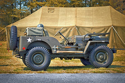 Poster featuring the photograph Willys Jeep U S A 20899516 At Fort Miles by Bill Swartwout Fine Art Photography