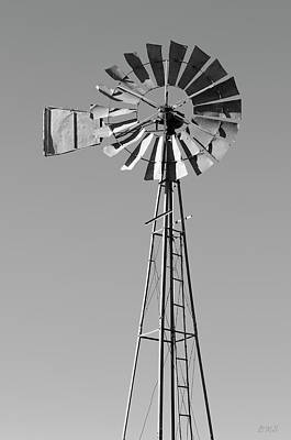 Poster featuring the photograph Windmill IIi Bw by David Gordon