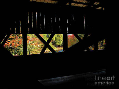 Poster featuring the photograph Window To Fall by Debbie Stahre