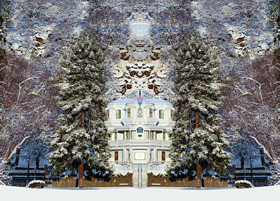 Winter At The Susanville Elks Lodge Poster