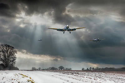 Poster featuring the photograph Winter Homecoming by Gary Eason