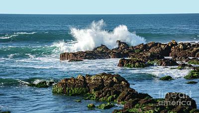 Winter Waves Hit Ancient Rocks No. 2 Poster