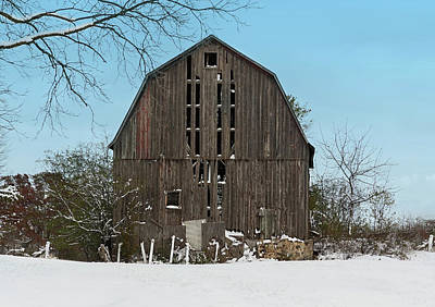 Poster featuring the photograph Wisconsin Barn by Kim Hojnacki