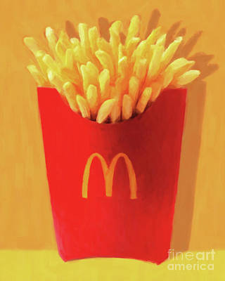 Poster featuring the photograph Worship The Golden Mcdonalds French Fries Arch Pop Art 20180920 by Wingsdomain Art and Photography