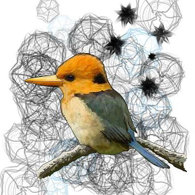 Y Is For Yellow Billed Kingfisher Poster