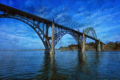 Yaquina Bay Bridge From South Beach Poster