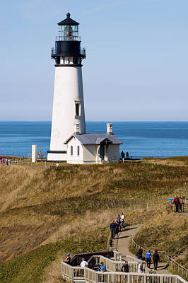 Poster featuring the photograph Yaquina Head Lighthouse 102518 by Rospotte Photography