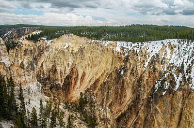 Poster featuring the photograph Yellowstone Canyon With Frosting by Matthew Irvin