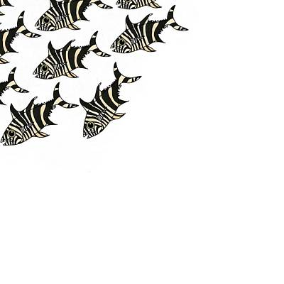 Zebra Fish 3 Of 4 Poster
