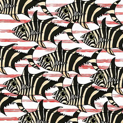 Zebra Fish 6 Poster