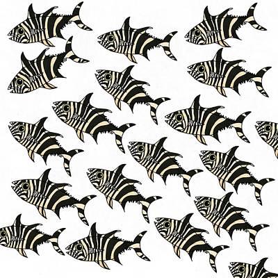 Zebra Fish 7 Poster