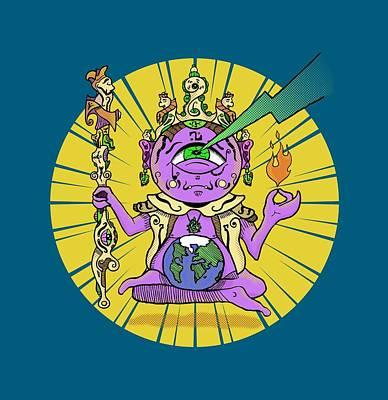 Poster featuring the digital art Zen by Sotuland Art