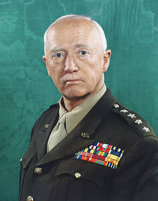 """GENERAL GEORGE PATTON A4 GLOSS POSTER PRINT LAMINATED 11.7/""""x8.3/"""""""