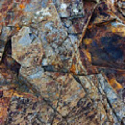 Rock Geometry Poster by Julian Perry
