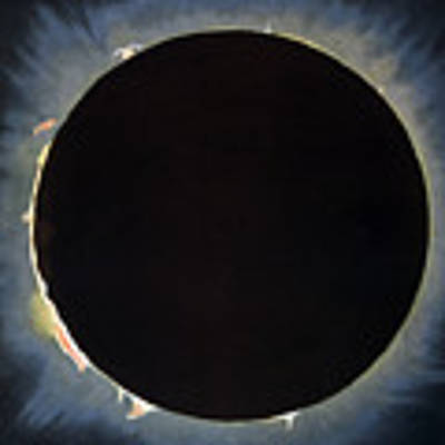 Solar Eclipse, 1860.  Poster by Granger