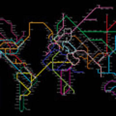 World Metro Map Poster
