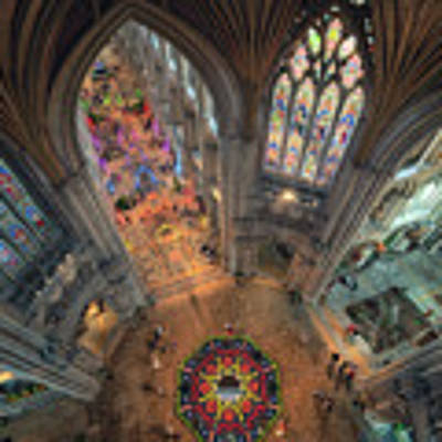 Ely Cathedral Flower Festival Poster by James Billings