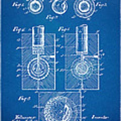 1902 Golf Ball Patent Artwork - Blueprint Poster