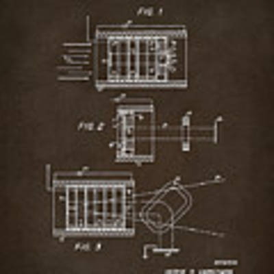 1969 Short Wave Electromagnetic Radiation Patent Espresso Poster by Nikki Marie Smith