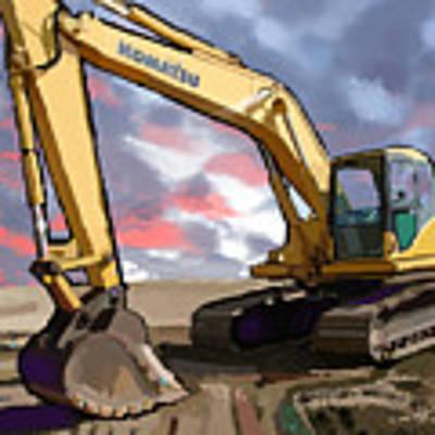 2004 Komatsu Pc200lc-7 Track Excavator Poster