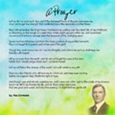 A Prayer By Max Ehrmann V1 Poster by Adam Asar