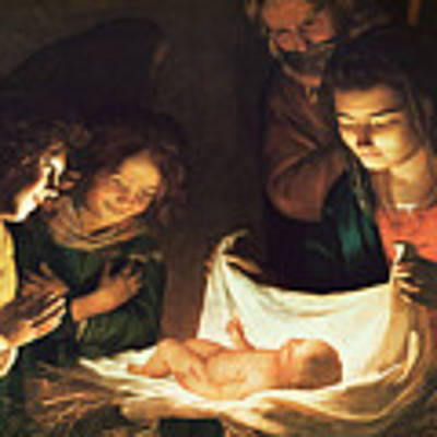 Adoration Of The Baby Poster