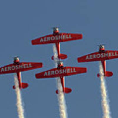 Aeroshell Aerobatic Team Poster by Susan Rissi Tregoning