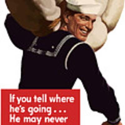 American Sailor -- Ww2 Propaganda Poster